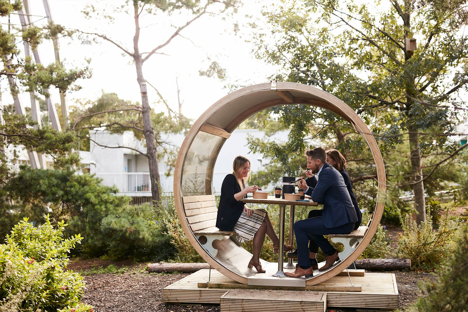 The Seamark Building Dublin Outdoor Meeting Pods