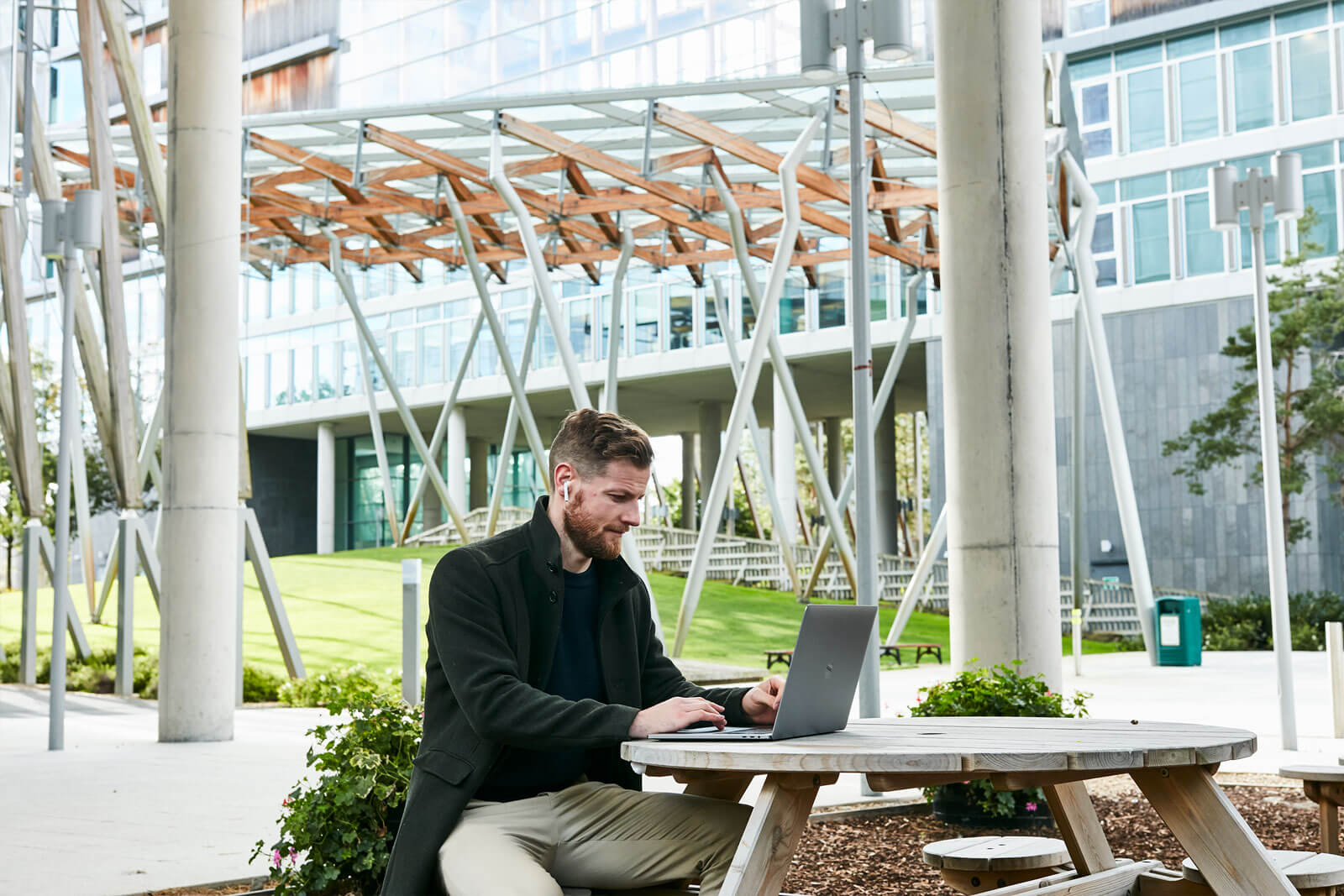 The Seamark Building Dublin Working outdoors